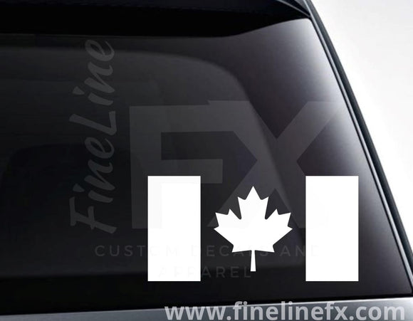 Canadian Flag Canada Maple Leaf Vinyl Decal Sticker - FineLineFX