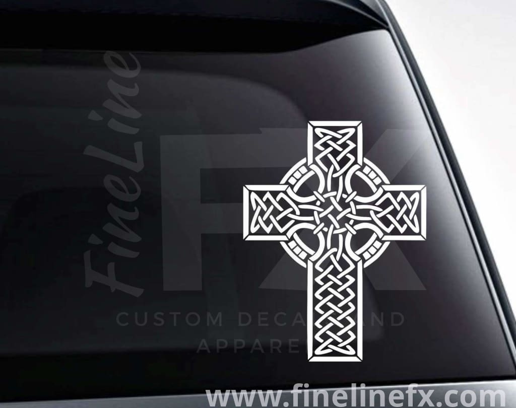Celtic Cross Vinyl Decal Sticker