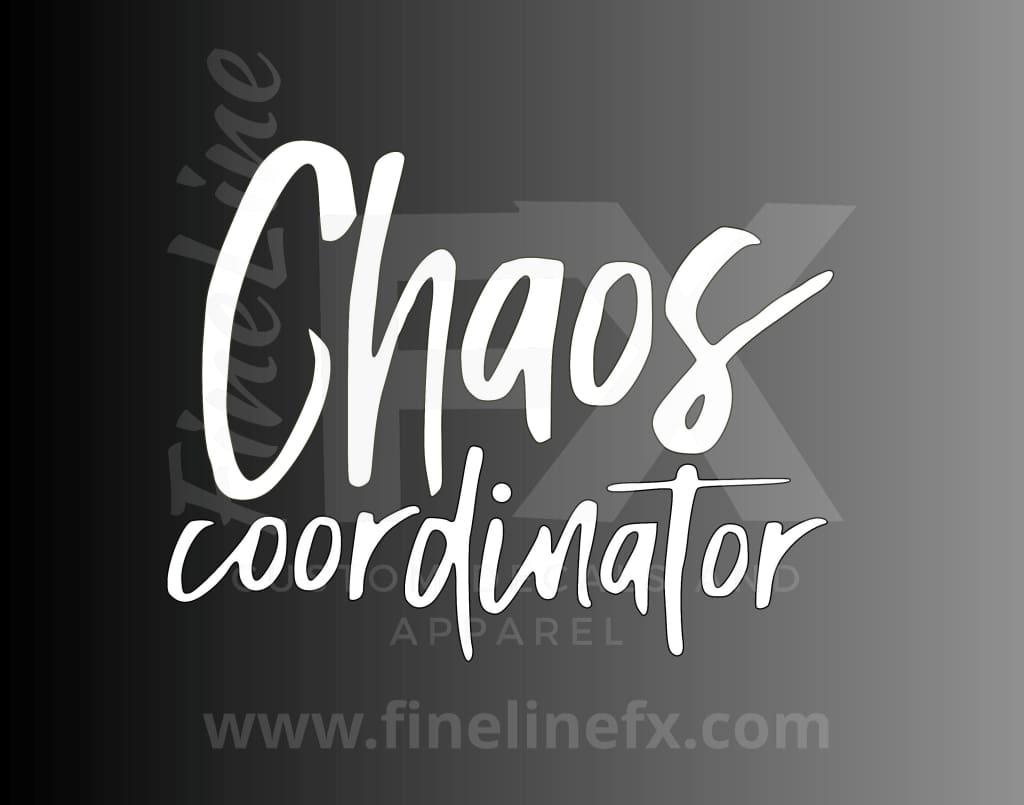 Chaos Coordinator Vinyl Decal Sticker