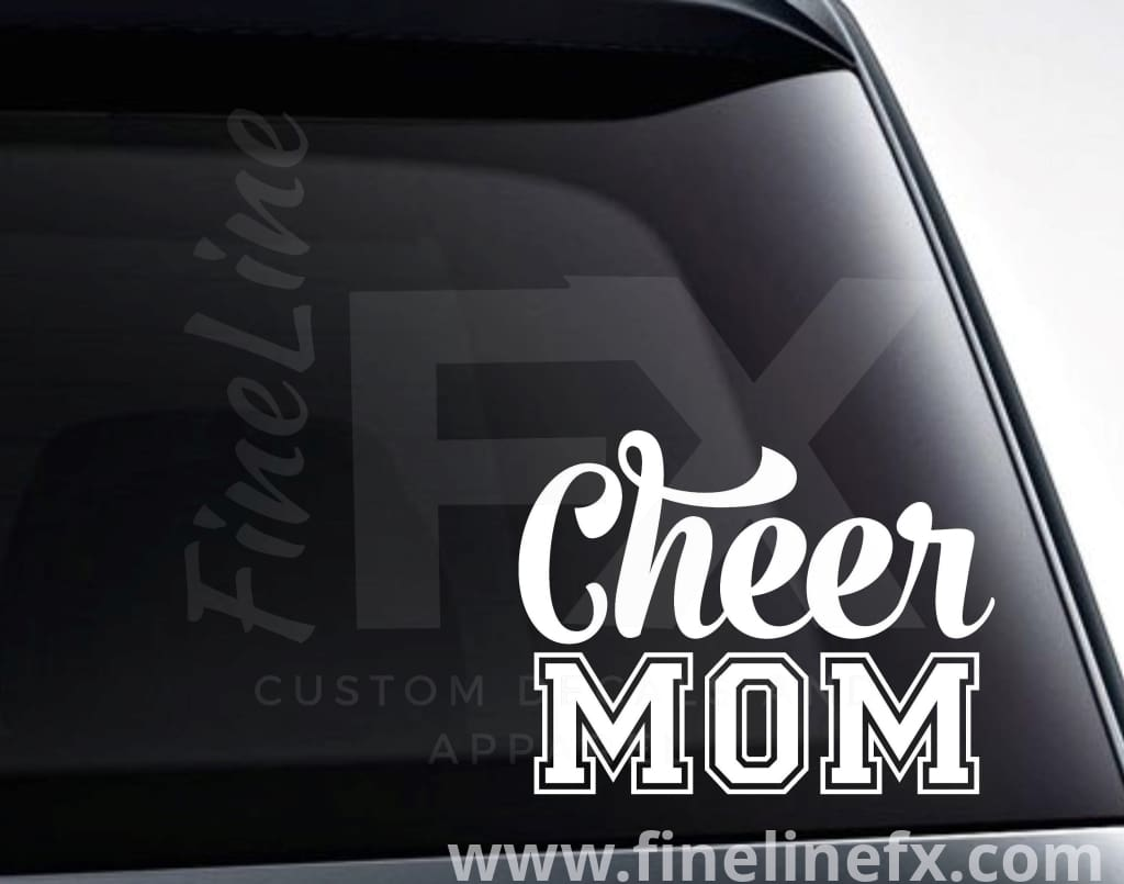 Cheer Mom Cheerleader Mom Vinyl Decal Sticker