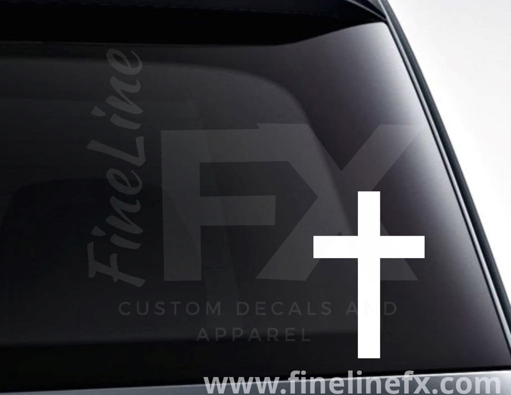 Christian Cross Vinyl Decal Sticker