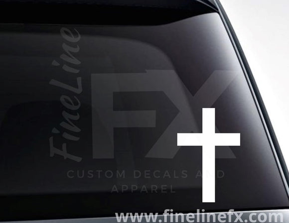 Christian Cross Vinyl Decal Sticker - FineLineFX