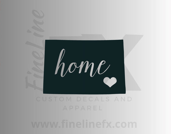 Colorado Home State Vinyl Decal Sticker - FineLineFX