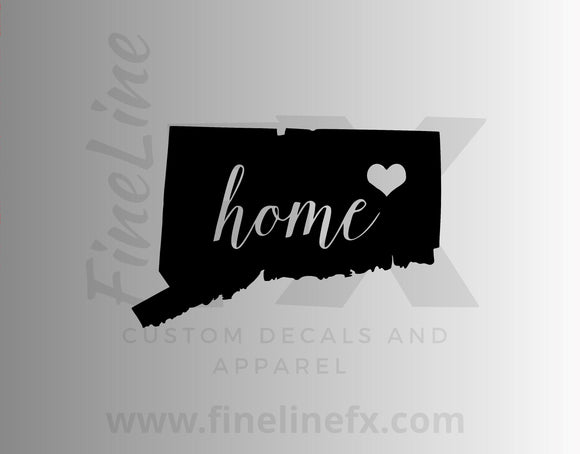 Connecticut Home State Vinyl Decal Sticker - FineLineFX
