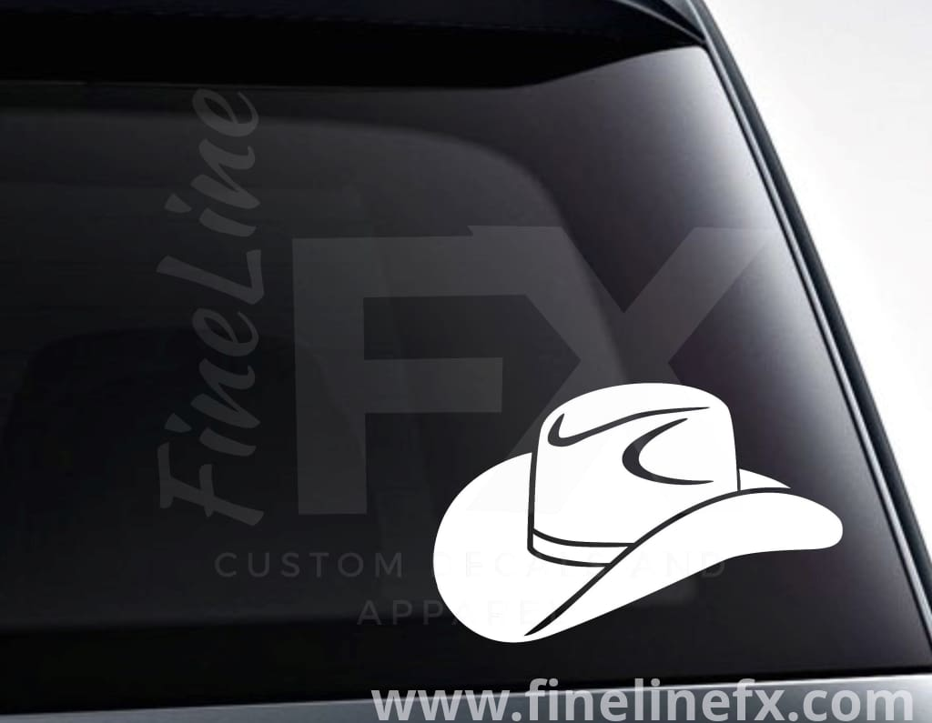 Cowboy Hat Vinyl Decal Sticker