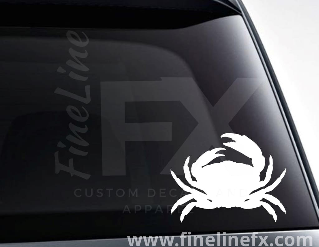 Crab Silhouette Vinyl Decal Sticker