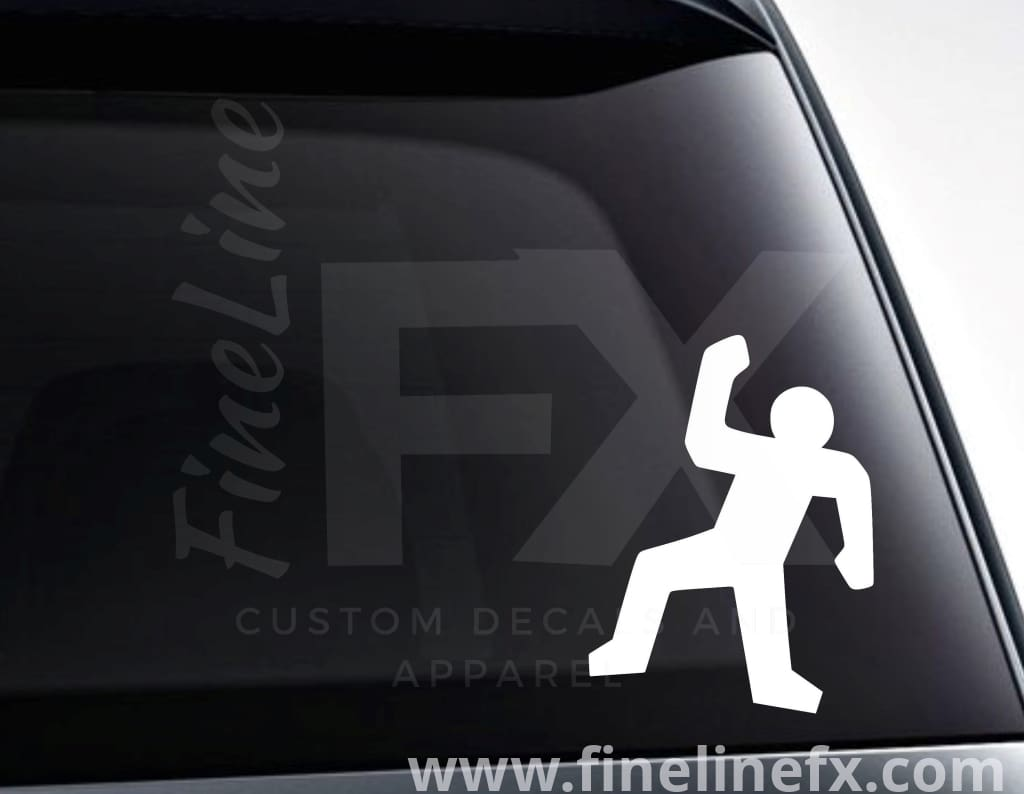 Crime Scene Body Outline Vinyl Decal Sticker