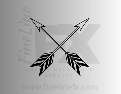 Crossed Arrows Vinyl Decal Sticker