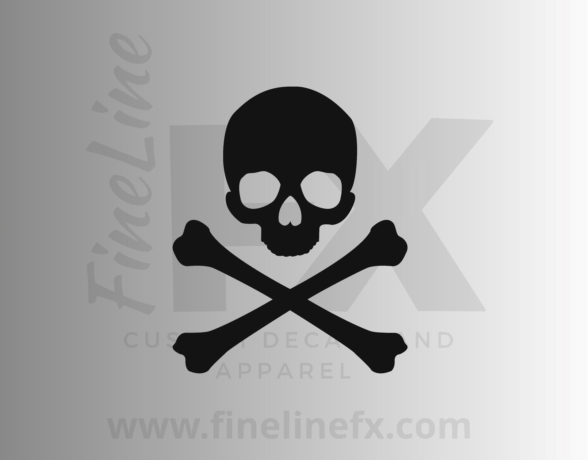 Danger Sign Skull And Crossbones Vinyl Decal Sticker
