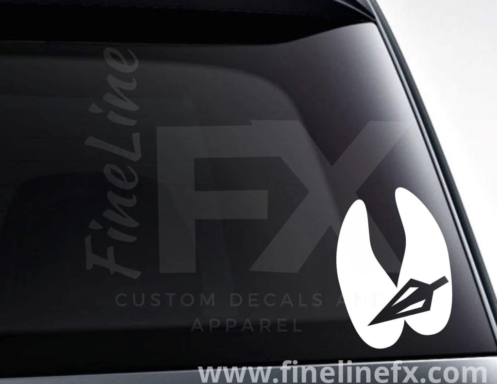 Deer Paw Broadhead Arrow Vinyl Decal Sticker