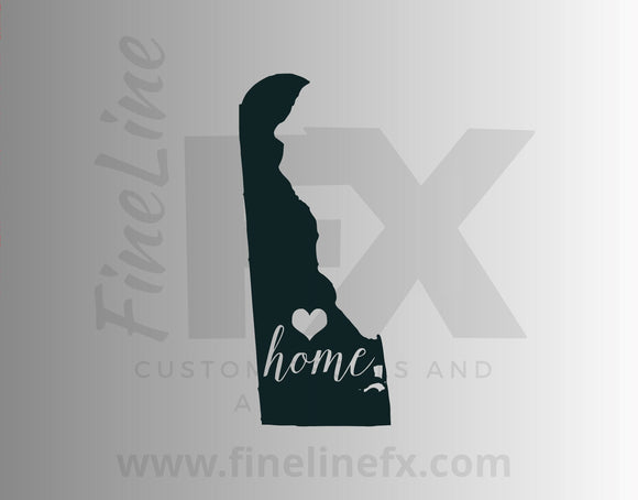 Delaware Home State Vinyl Decal Sticker - FineLineFX