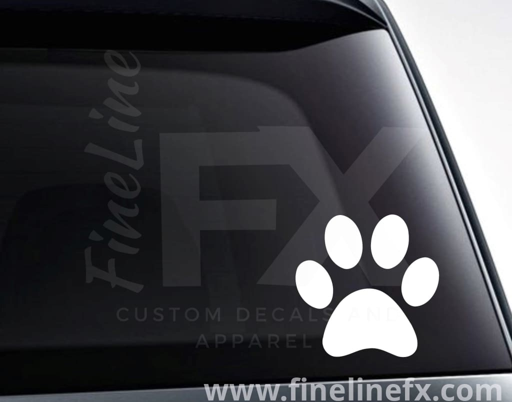 Dog Paw Print Vinyl Decal Sticker