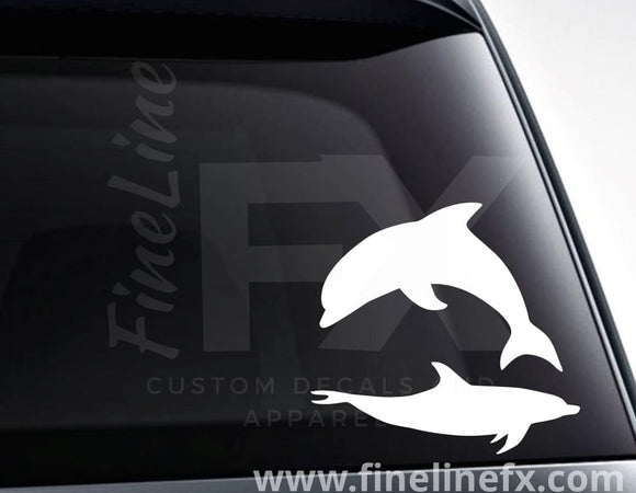 Dolphin Vinyl Decal Sticker - FineLineFX