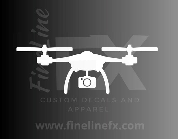 Drone Quadcopter Vinyl Decal Sticker - FineLineFX