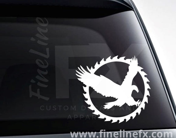 Eagle Saw Blade Vinyl Decal Sticker - FineLineFX