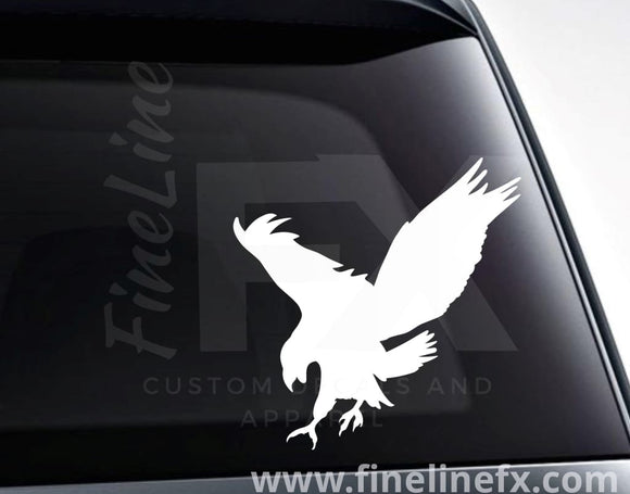 Eagle Silhouette Vinyl Decal Sticker - FineLineFX