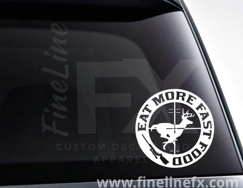 Eat More Fast Food, Rifle Scope Hunting Target Vinyl Decal Sticker