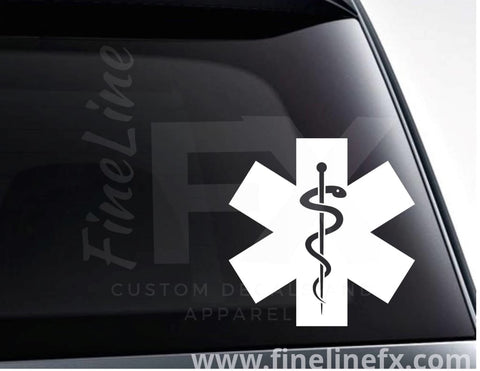 Ems Star Of Life Paramedic Vinyl Decal Sticker