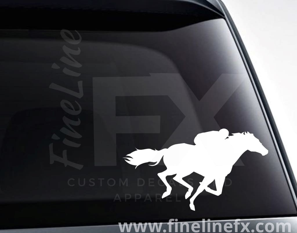 Equestrian Horseback Rider Vinyl Decal Sticker