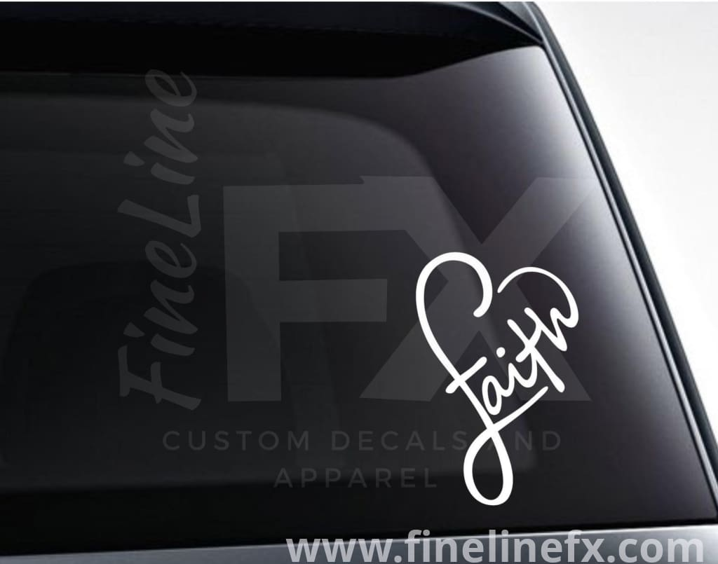 Faith Infinity Heart Vinyl Decal Sticker