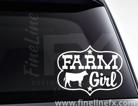 Farm Girl Vinyl Decal Sticker