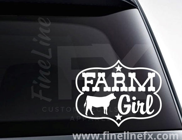 Farm Girl Vinyl Decal Sticker - FineLineFX
