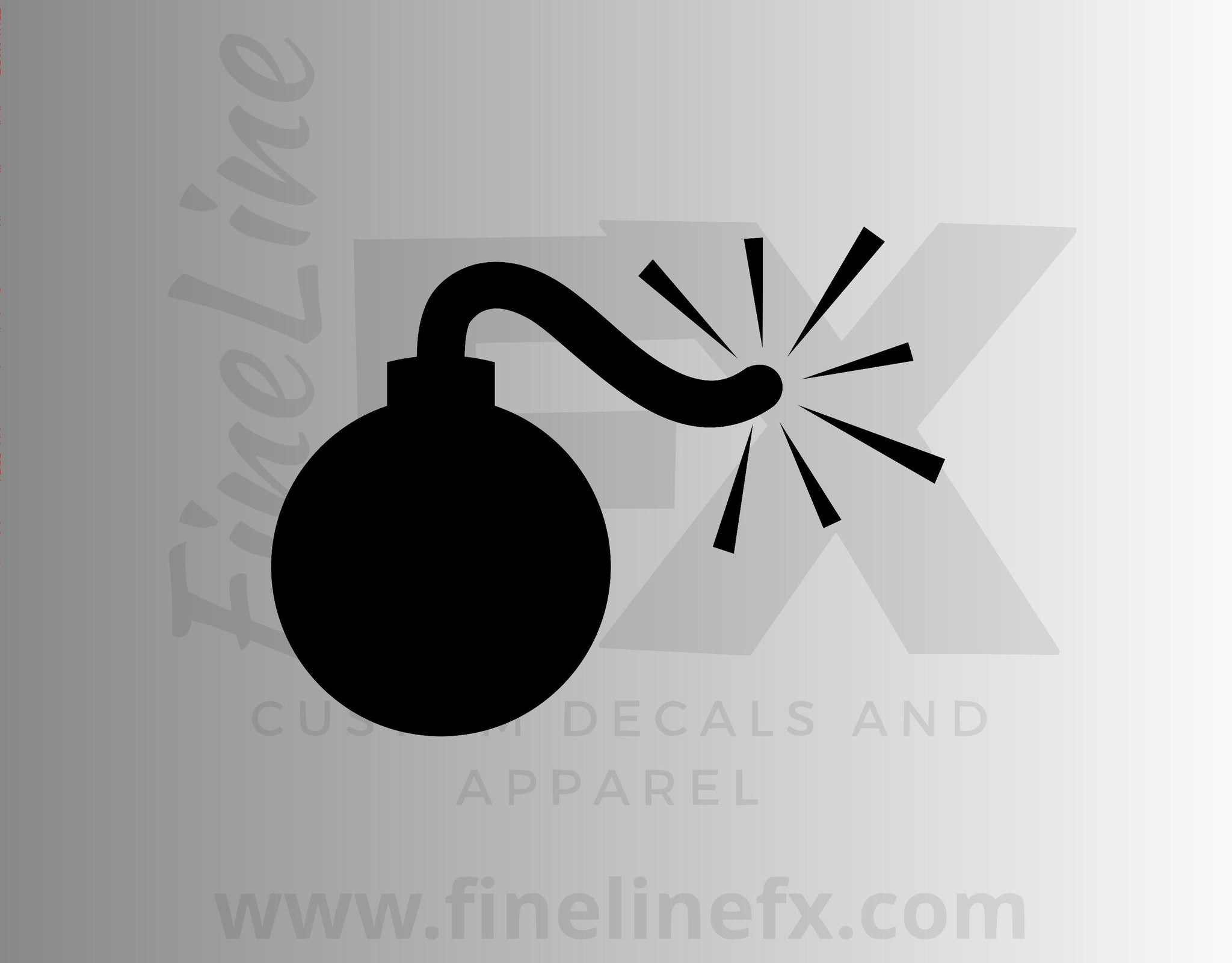 Firecracker Bomb Vinyl Decal Sticker
