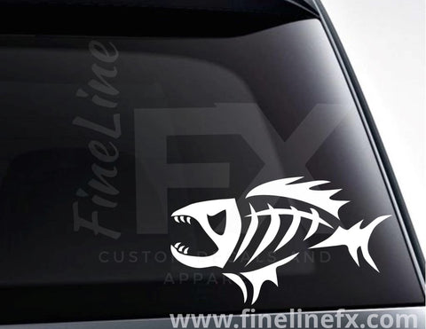 Fish Skeleton Vinyl Decal Sticker
