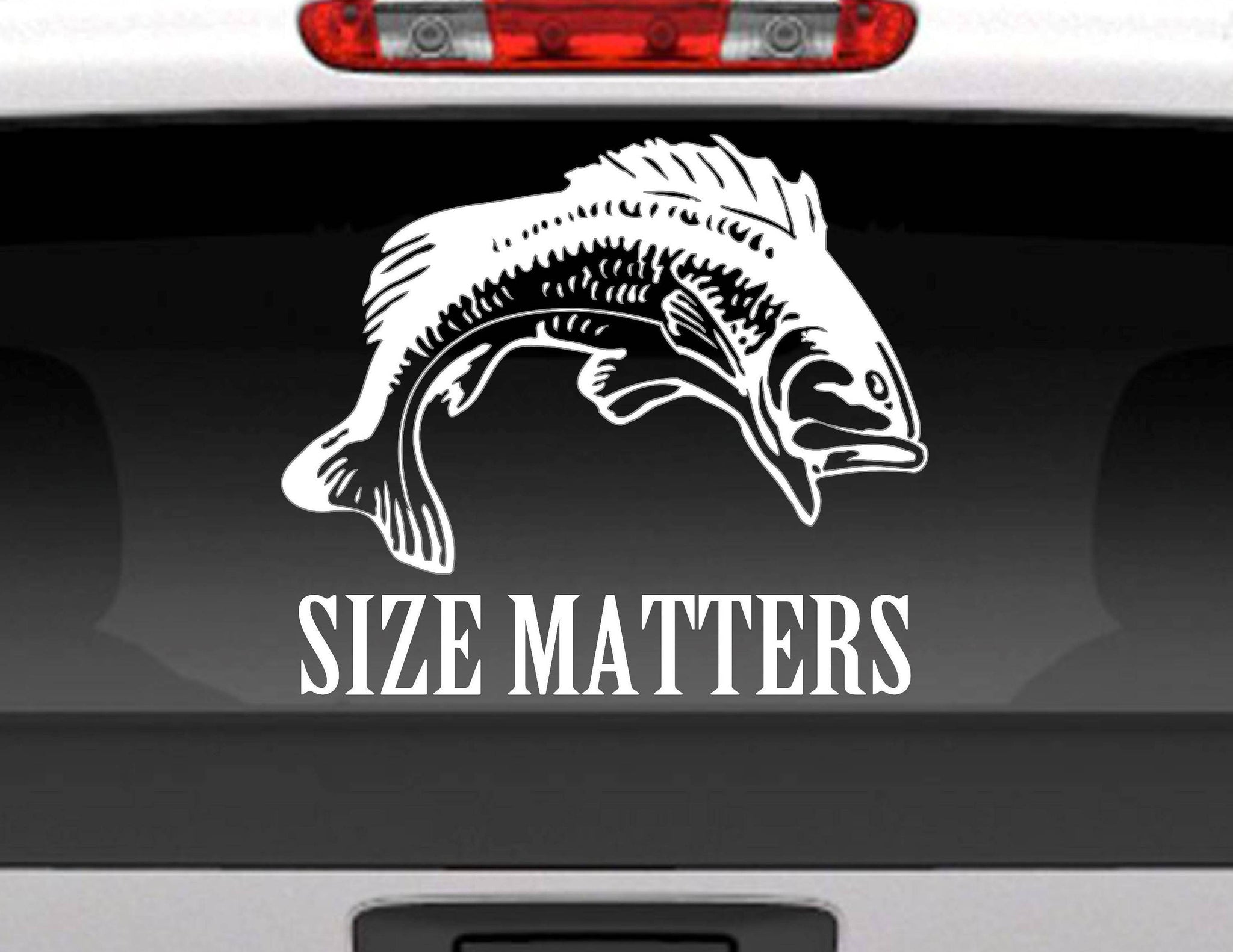 Size Matters Fishing Vinyl Decal Sticker