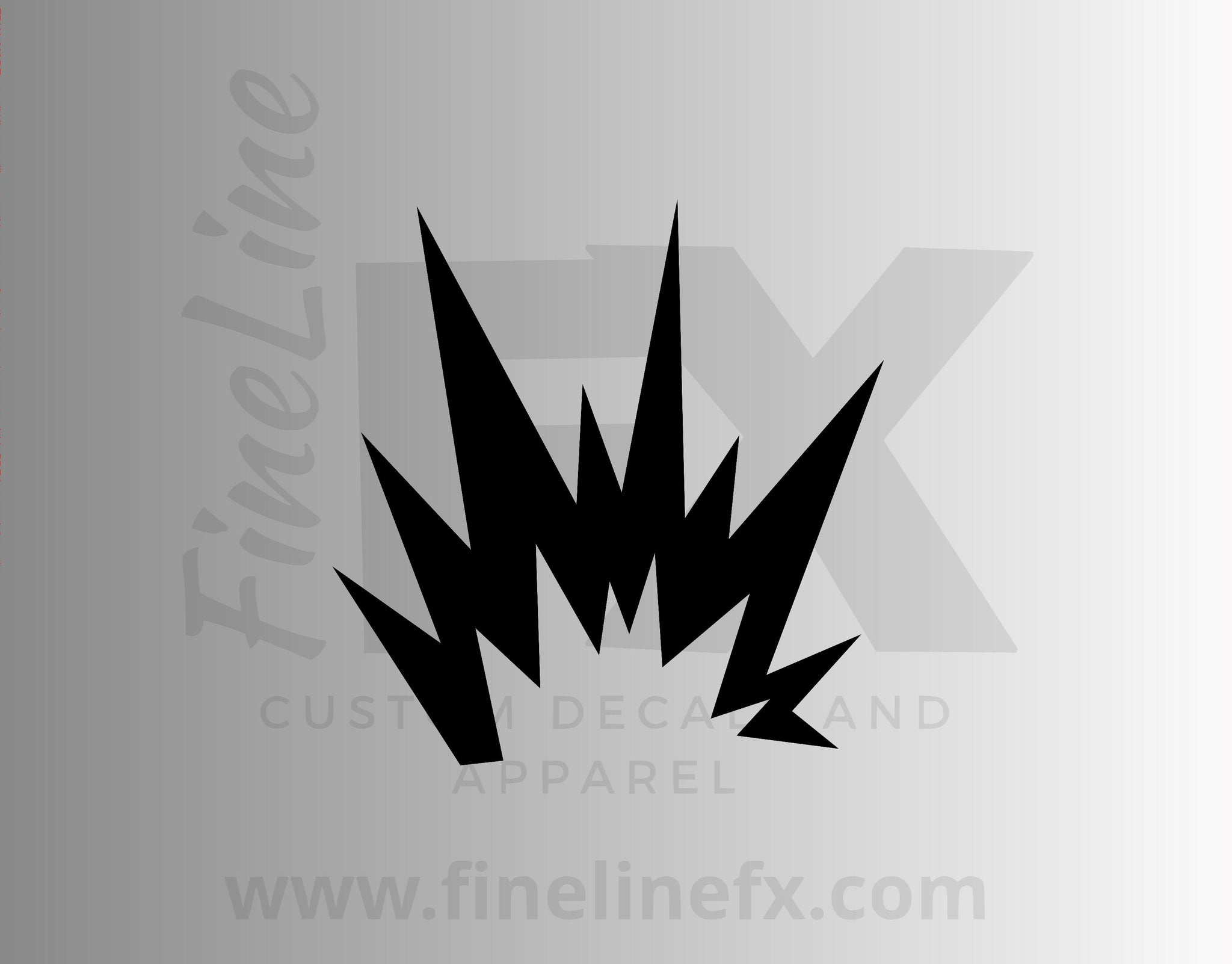 Flames Explosion Hazard Warning Symbol Vinyl Decal Sticker