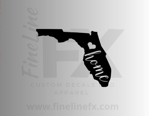 Florida Home State Vinyl Decal Sticker
