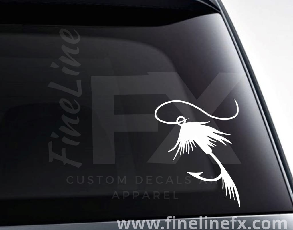 Fly Fishing Lure Vinyl Decal Sticker