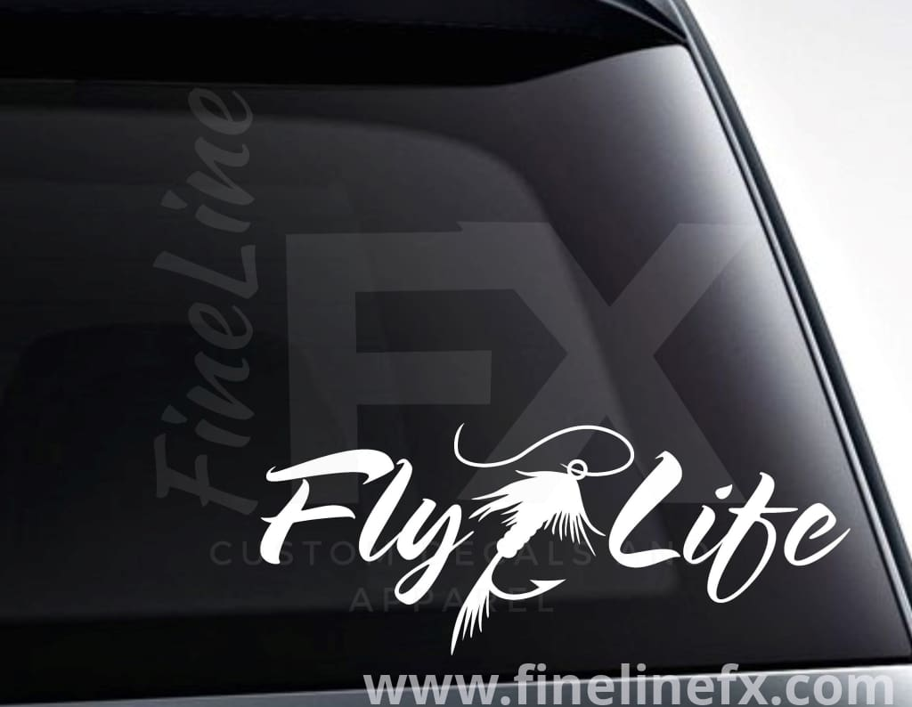 Fly Life Fly Fishing Vinyl Decal Car Sticker