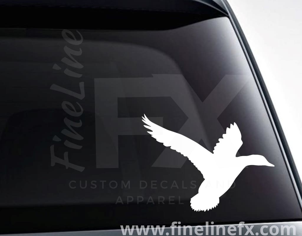Flying Duck Vinyl Decal Sticker