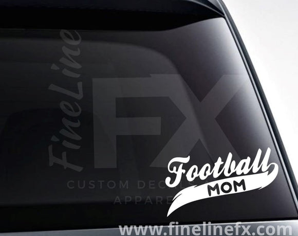 Football Mom Vinyl Decal Sticker - FineLineFX