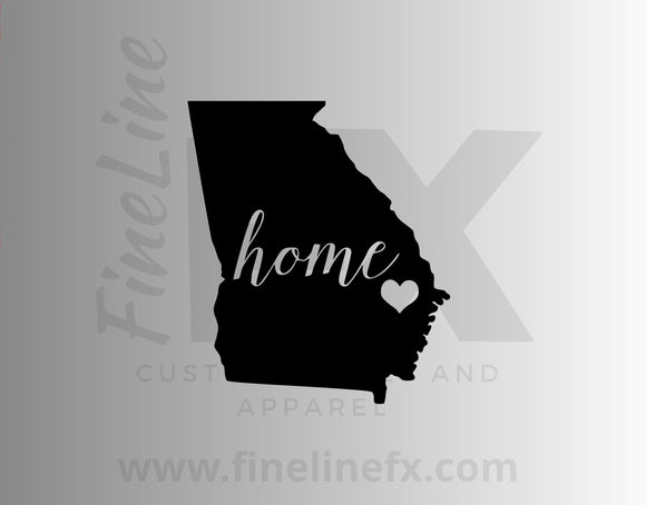 Georgia Home State Vinyl Decal Sticker - FineLineFX