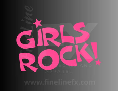 Girls Rock! Vinyl Decal Sticker
