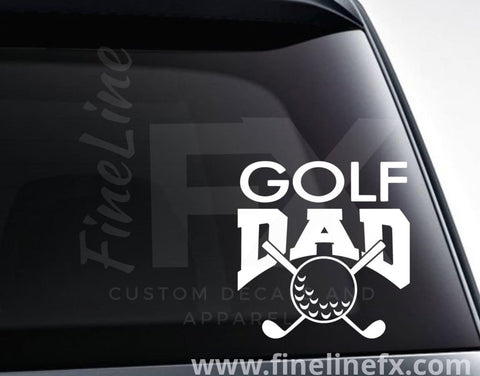 Golf Dad Vinyl Decal Sticker