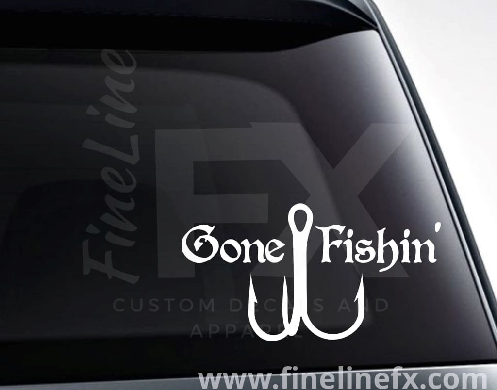 Gone Fishing Vinyl Decal Sticker