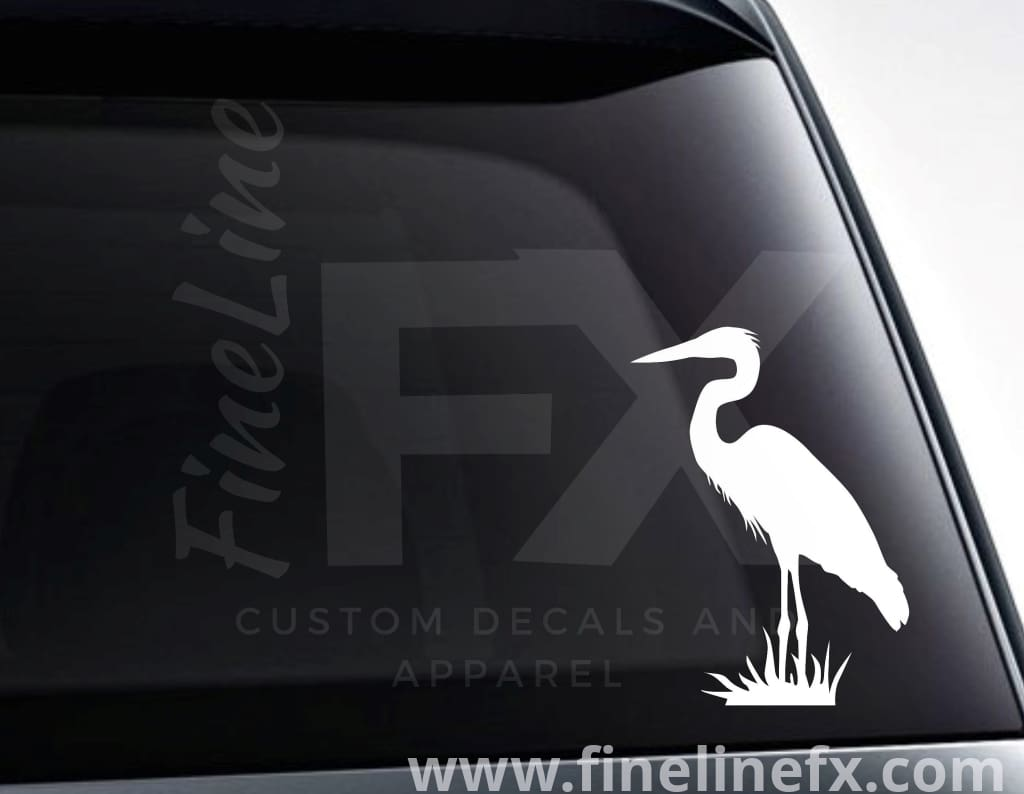 Great Blue Heron Wading Bird Vinyl Decal Car Sticker