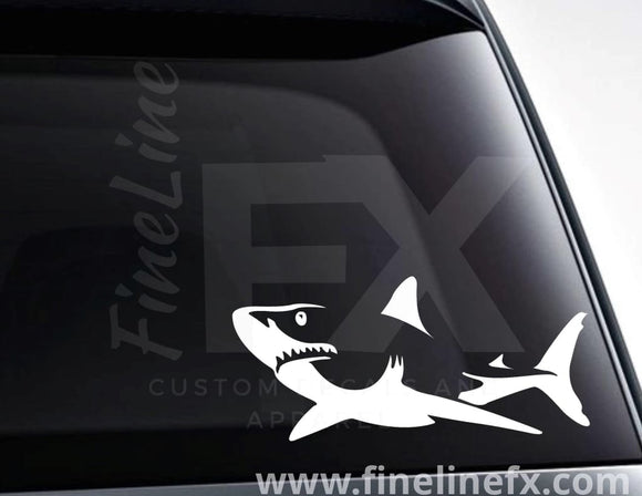 Great White Shark Vinyl Decal Sticker - FineLineFX