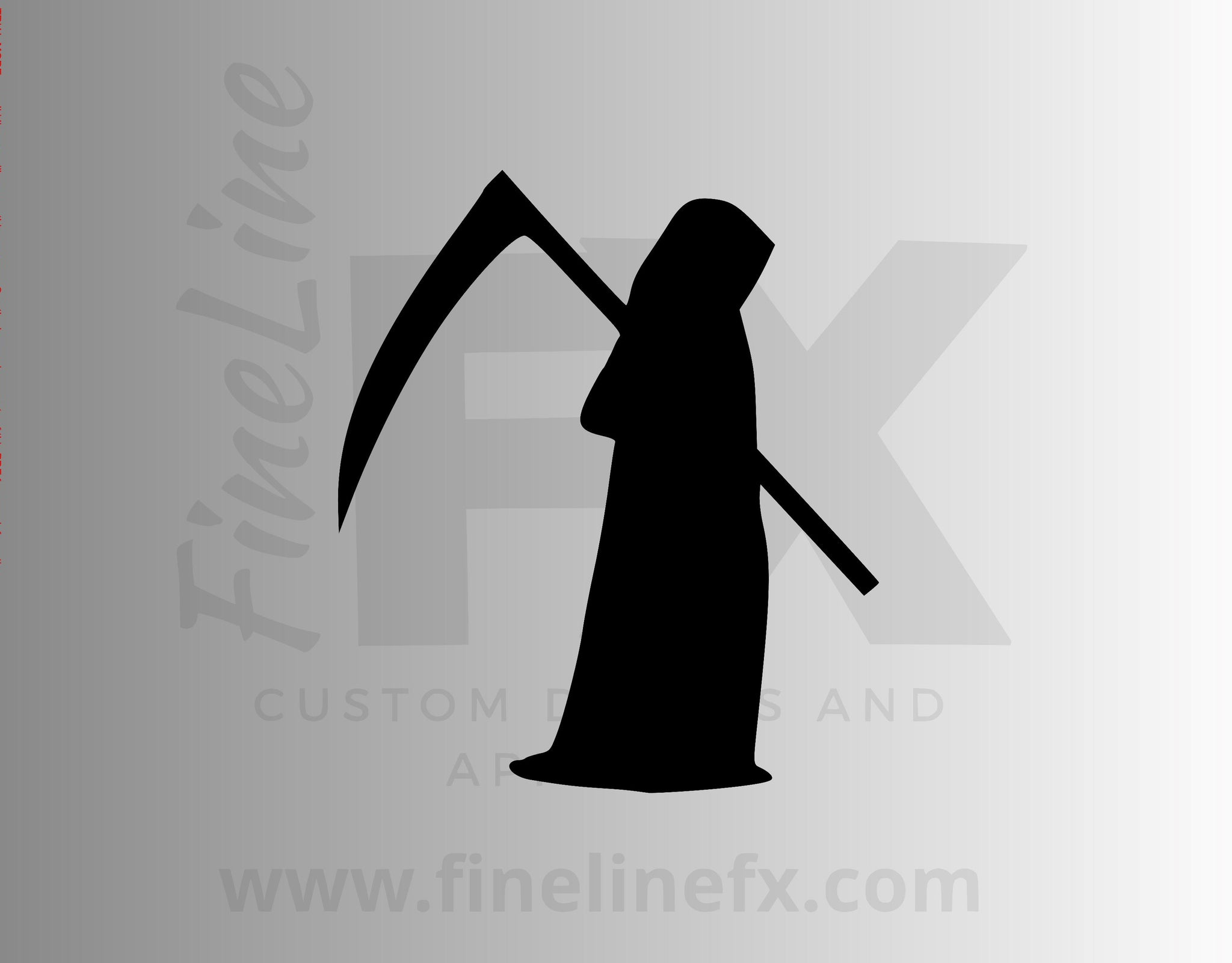 Grim Reaper Silhouette Vinyl Decal Sticker