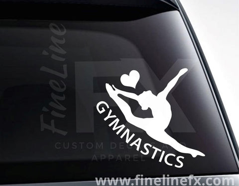 Gymnastics Love Vinyl Decal Sticker