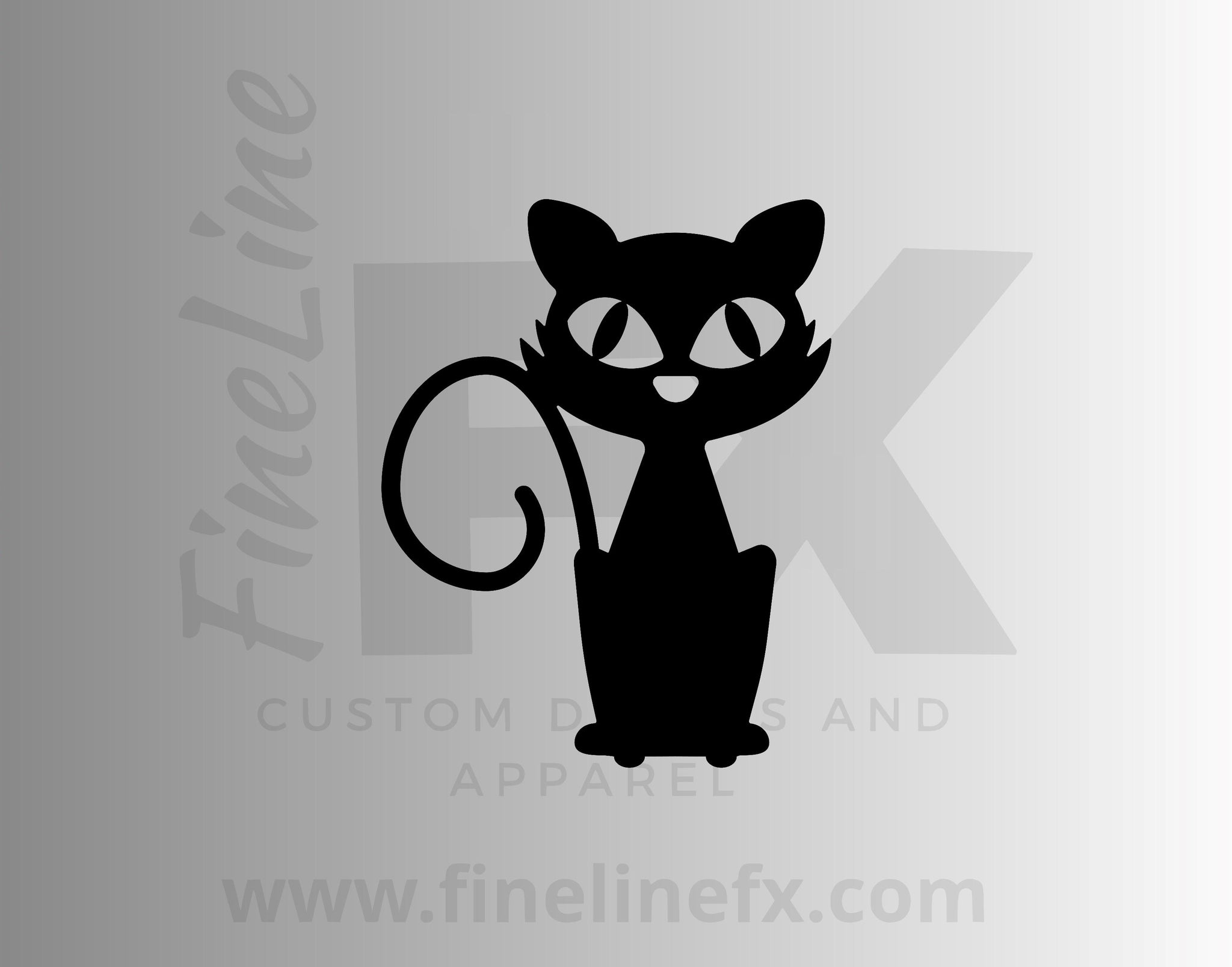 Cute Halloween Black Cat Vinyl Decal Sticker