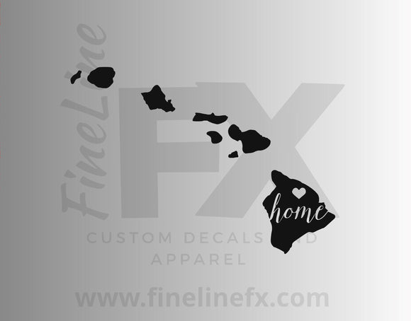 Hawaii Home State Vinyl Decal Sticker - FineLineFX