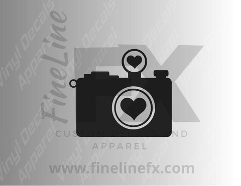 Heart Camera Love Photography Vinyl Decal Sticker