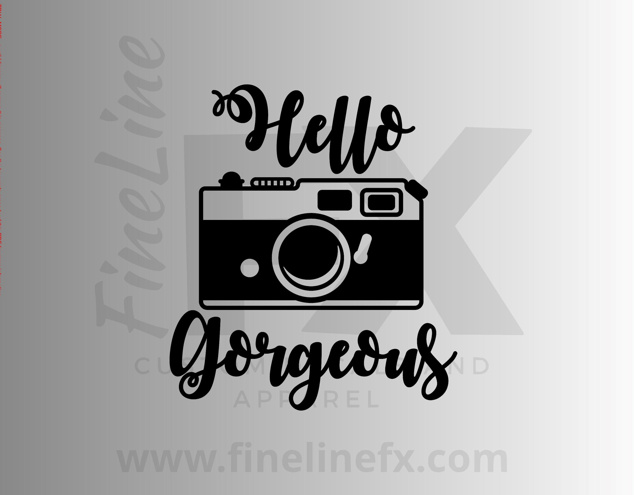 Hello Gorgeous Camera Vinyl Decal Sticker