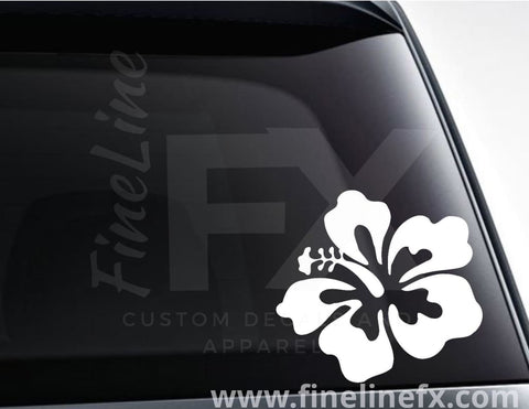 Hibiscus Tropical Flower Vinyl Decal Sticker