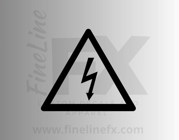 High Voltage Warning Symbol Vinyl Decal Sticker - FineLineFX