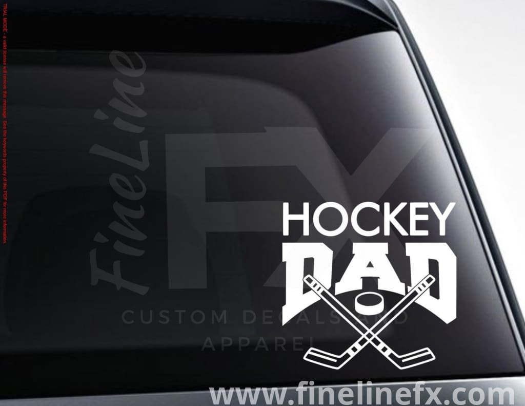 Hockey Dad Vinyl Decal Sticker
